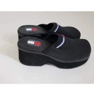 1990's TOMMY HILFIGER Platform Wedge Slip On Shoes